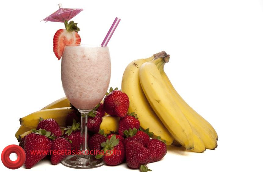 Licuado de fresa con plátano y Avena