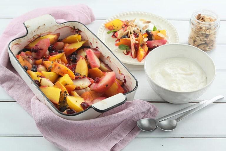 receta de frutas asadas al horno