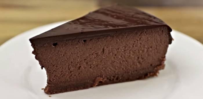 cheesecake de chocolate una receta muy fácil de hacer