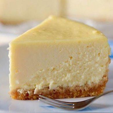 Pastel de queso en media hora